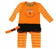 Halloween Pumpkin Baby Toddler Outfit With Headband