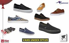 VANS Unisex shoes  Classic slip on Vulcanised Van doren Authentic Lo pro BNIB
