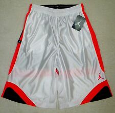 NWT NIKE Youth Boys AIR JORDAN JUMPMAN Athletic Basketball SHORTS White Black L