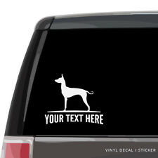 Mexican Hairless Dog Car Window Decal - Personalized Vinyl Sticker - Xolo