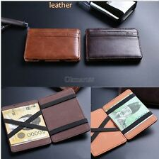 Chic Leather Magic Money Clip Slim Men Wallet ID Credit Card Holder Case OK