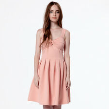 Dear Creatures XS S Betty Pink Stretchy Fit and Flare ModCloth Dress