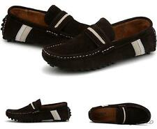 Mens British Style suede leather slip on loafer lined moccasins driving shoes
