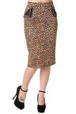 Leopard print pencil wiggle skirt by Banned rockabilly pinup 1950s