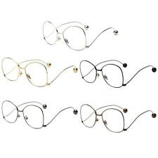 Fashion Retro Round Metal Frame Vintage Eyeglasses Glasses Plain Glass Spectacle