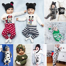 Newborn Baby Girls Boys Infant Clothes Romper Bodysuit Jumpsuit Autumn Outfits