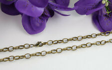 """12PCS Of Antiqued Bronze 8X5.6mm Oval chain necklaces 16"""" 18"""" 20"""" 22"""" 24"""""""