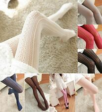 Fall Winter Lace Fishnet  Vertical Stripe Pattern Pantyhose Tights # PH-011