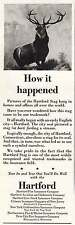 1956 Hartford Insurance: Hartford Stag, How It Happened Print Ad (11462)
