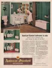 1954 American Standard Bathrooms: Change Your Color Sc Print Ad (22787)