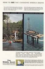 1963 Middle South Utilities: Fishing, Oil Rig Print Ad (19574)