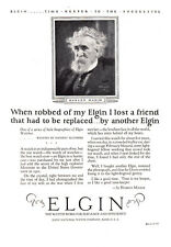 1925 Elgin Watch: When Robbed of My Elgin, Hudson Maxim Print Ad (23395)