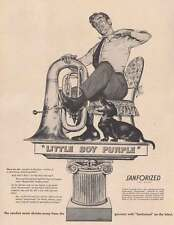 1948 Cluett, Peabody & Co: Little Boy Purple Print Ad (22573)