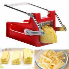 POTATO CHIPPER FRENCH FRIES SLICER CHIP CUTTE CHOPPER MAKER 2 BLADES STEEL