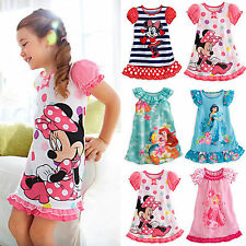 Lovely Kids Baby Girls Minnie Mouse Party Dress Vest Skirt Children Clothes 2-5Y