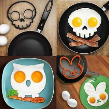 Breakfast Fried Egg Mold Silicone Pancake Egg Ring Shaper Funny Cooking Tool FY