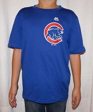 NWT Majestic Chicago Cubs MLB Youth Cool Base T-Shirt - Royal Blue