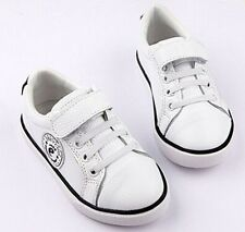 "Freycoo ""Style"" White Leather Shoes Sneakers Runners Girls or Boys"
