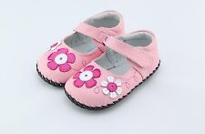 "Freycoo ""Mia"" Pink Soft Sole Leather Shoes Baby Girls sizes 6 to 24 months"