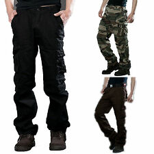 Combat Military Pants Mens Army Camo Work Cargo Harem Camping Trousers Hiking
