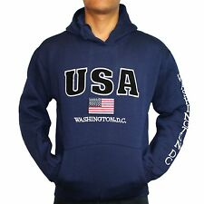 Washington DC Non-Zipper Sweatshirt- USA (Navy)