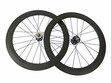 20.5mm 50+60mm Clincher Track Bicycle Wheelset Track Fixed Gear Carbon Wheel