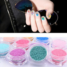 12 Colors Nail Art Round Glitter Dust Tips Power Decoration Tool