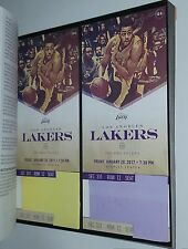 1/20/2017 INDIANA PACERS vs LAKERS 2 TICKETS STAPLES CENTER LOS ANGELES NBA kobe