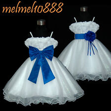 UKBD70 Royal Blue Two Way Wear Pageant Party Wedding Flower Girl Dress 1 to 14 Y