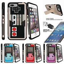 "For Apple iPhone 7 (4.7"") Gold Case Clip Stand + Tempered Glass Game Controller"