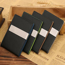Mens Leather Wallet Slim Billfold Magic Credit Card ID Holder Bifold Money Clip