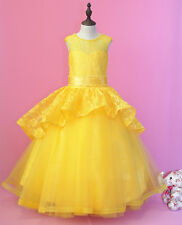 Flower Girl Dress Wedding Communion Prom Pageant Party Birthday real picture 9