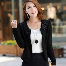 M-3XL Candy Color Womens Fashion Korea Solid Slim Casual Suit Blazer Coat Jacket