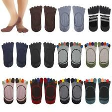 Pair five finger toe socks men's cotton Striped sports Invisible Ankle Yoga Gym