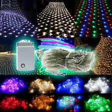 96/200/880 LED Net Mesh Fairy String Lights Christmas Xmas Wedding Party Outdoor