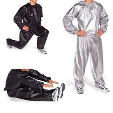 PVC Sauna Suit Loss Weight Exercise Gym Fitness Fat Slimming Top Pants Anti-Rip