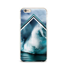 Sea Ocean Wave Water Geometric Hard Case Cover Back for Apple iPhone Series