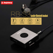 REMAX Lavalier Clip-on Bluetooth Wireless Headset for Smart iPhone Samsung HTC