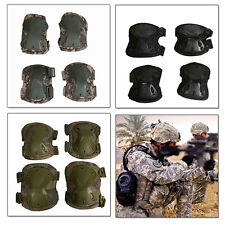 Combat Tactical Elbow Knee Pads Guard Airsoft Protective Gear 4psc/Set Skating