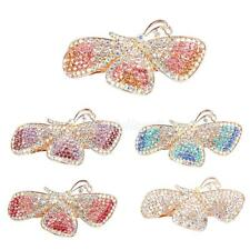 Full Colorful Rhinestone Butterfly Hair Barrette Clips Clamp Accessory
