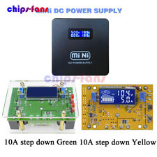 2A 10A DC Adjustable Step Down Step UP Power Supply Module LCD Dual Display+Case
