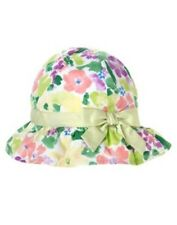 GYMBOREE Girls Hat FIRST PICNIC Size 3 6 12 18 months Floral Ruffle Sun Hat NEW