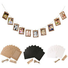 10 Set Rope Clip Set Home Decor Paper Photo Wall Picture Hanging Frame Album C