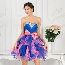 Organza Short Prom Dresses Formal Evening Gown Graduation Homecoming Party Dress