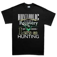 Hunt-aholic Hunting Hunter Camping Mens T shirt Tee Top T-shirt