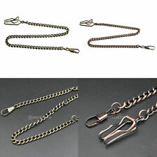 Vintage Retro Antique Chain Link Necklace Classic Cable For Pocket Watch