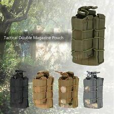 New Tactical Double Magazine Mag Pouch Military Gear Hunting Bag Accessory F7I6