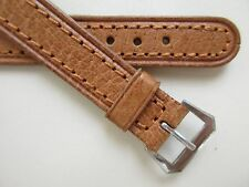 Vintage 50's brown leather open-end watch band ~ 14 mm