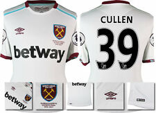 *16 / 17 - UMBRO ; WEST HAM UTD AWAY SHIRT SS + PATCHES / CULLEN 39 = SIZE*