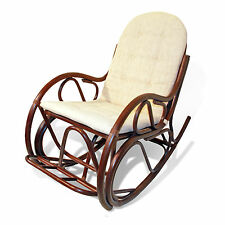 Traditional Handmade Rattan Wicker ROCKING CHAIR w/Cushion LOCAL PICKUP